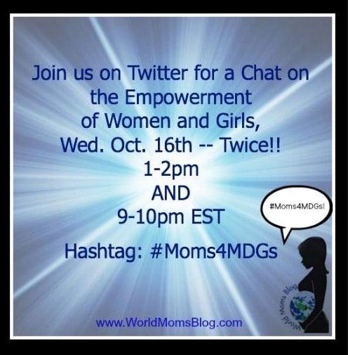 #Moms4MDGs MDG #3 with Girl Up,Plan International & Al-Nahda