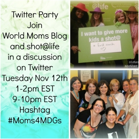 #Moms4MDGs MDG #4 With Shot@Life:Reduce Child Mortality