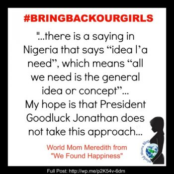 "WORLD VOICE: ""Idea l'a Need"" #BRINGBACKOURGIRLS"