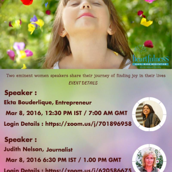 World Events: Women's Day Webinar Invitation From #Heartfulness Institute