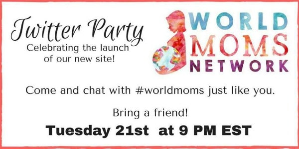 Join us 9pm EST today on Twitter to celebrate! #worldmoms