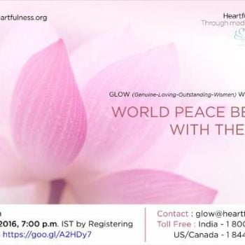 GLOW: A Unique Webinar Series by #Heartfulness Institute and #WorldMoms Network