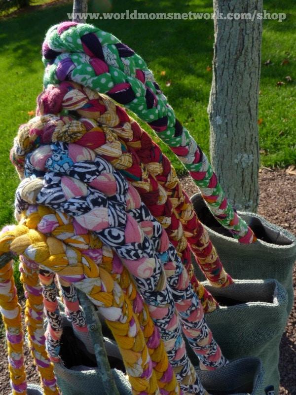 Gorgeous Braided Repurposed Sari Handles -- each bag is unique!