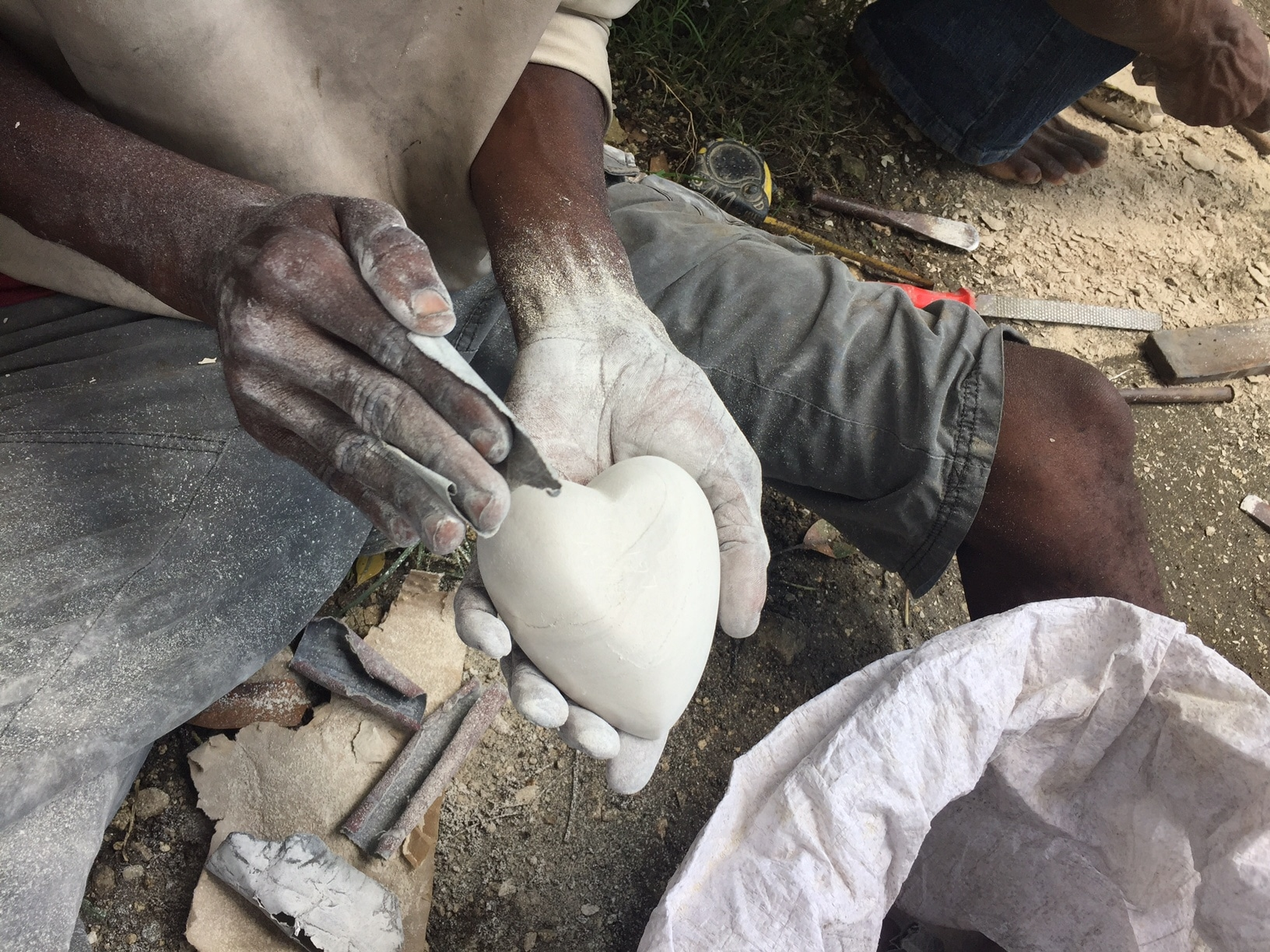 Carving soapstone