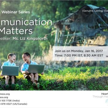 GLOW: #Heartfulness Webinar – Communication Matters By Liz Kingsnorth