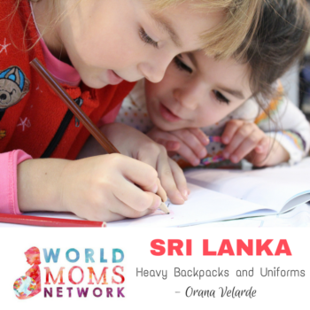 SRI LANKA: Heavy Backpacks and Uniforms