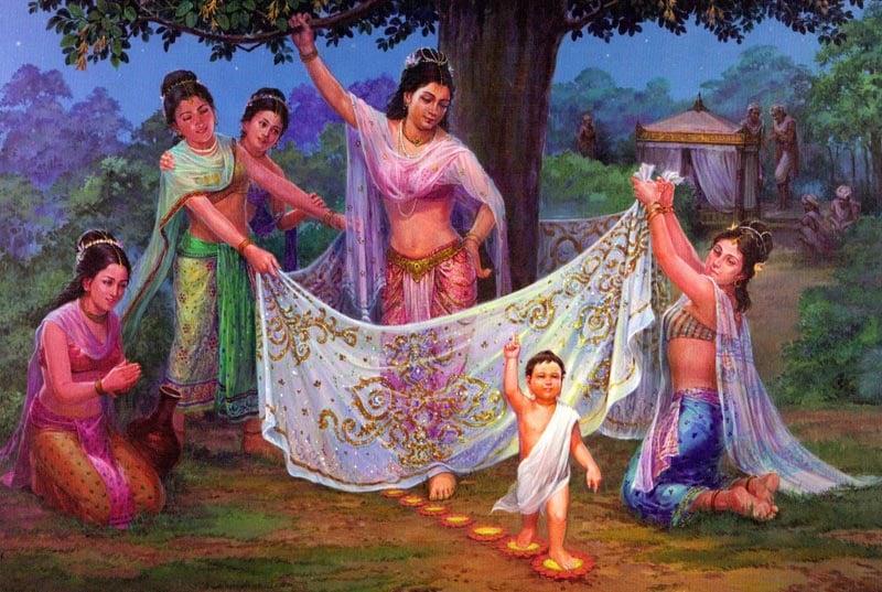 Nativity Scene: The Birth of the Buddha
