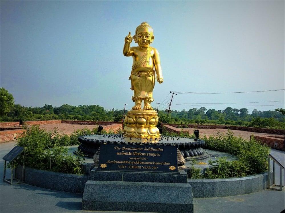 Golden Bodhisattva statue