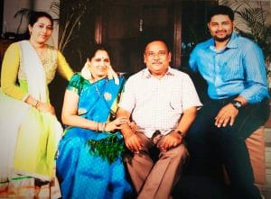 Lalitha Sai and her family after 25 years of marriage