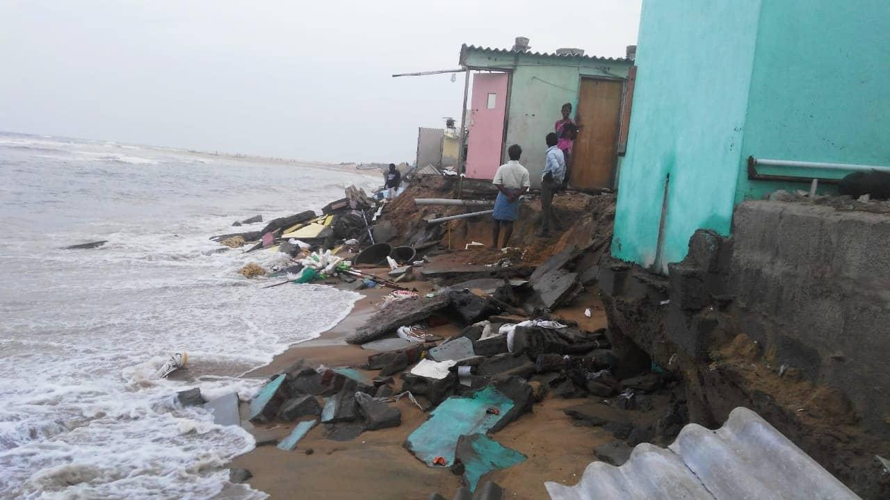 The Devastating Effect Near Pattinapakkam, Chennai